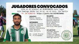 LOS CONVOCADOS SON….